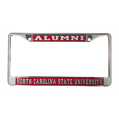North Carolina State University License Plate Frame/Tag For Front Back of Car Officially Licensed (Alumni - Metal - Riverside Park North