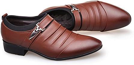 ChenTeShangMao Smoking del Vestido De Los Hombres De Los Zapatos De Los Hombres De Los Zapatos De Cuero De Empalme Mate PU Superior Slip-en Oxford Comerciales Transpirable Forrado Cómodo