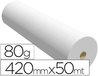 Ink-Jet - Papel reprografia para plotter 420mmx50mt 80gr impresion: Amazon.es: Oficina y papelería
