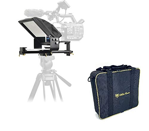 Glide Gear TMP 500 Universal Video Camera Tripod Teleprompter 15mm Rails w/ Carry Case