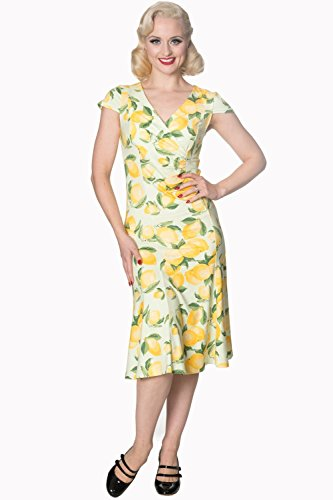 雄大な同じ運賃Banned Clothing - Yellow Lagoon Dress M