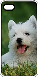 Westie West Highland Terrier Puppy White Rubber Case for Apple iPhone 4 or iPhone 4s