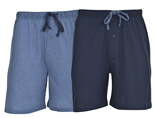 - Hanes Men's 2-Pack Knit Short,Champbre Blue Heather/Blue Depth,XX-Large