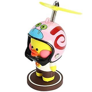 wonuu Yellow Duck Car Dashboard Decorations Cute Duck Car Ornaments with Propeller Helmet for Adults, Kids, Women, Men