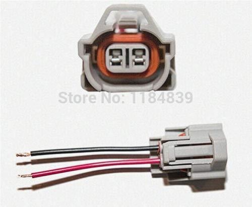 (Davitu 50 pcs NSO Nippon Fuel Injector Connector Pigtail case for Sard Tomei Blitz HKS Helix 1jz 2jz 15cm wire harness)