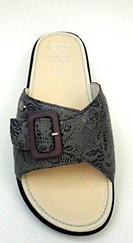 Dr Scholl - Zapatillas de estar por casa de Piel para mujer gris gris 42