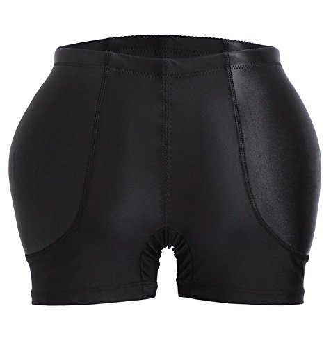 YIANNA Womens Tummy Control Panty Underwear Pads Butt Lifter Shaper Fake Butt, A1117-Black-3XL (Shaper Pads)