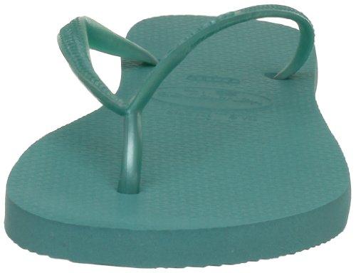 Havaianas Slim - Sandalias de goma mujer Verde (Pool Green 1424)