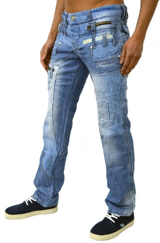 Kosmo Lupo Designer Men's Stylish Denim Jeans KM 235 36 Waist 32 ...