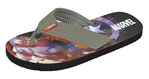 Marvel Avengers Mens Capitan America Avengers Flip Flop Sandalo Grigio