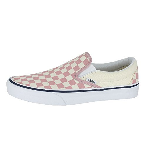 bf03a1b43a Galleon - Vans Mens U Clasic Slip ON Checkerboard Zephyr Pink Size 9.5