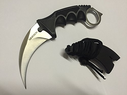 Black Soul Hawkbill Neck Knife (Chrome)