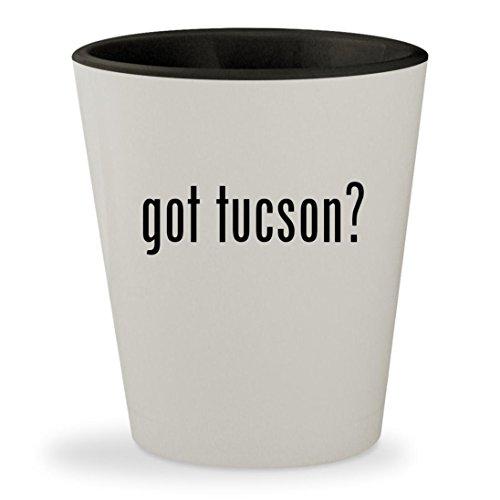 got tucson? - White Outer & Black Inner Ceramic 1.5oz Shot - Tucson Glasses Az