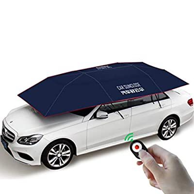 Y&Jack Fully Automatic Car Tent Movable Carport Folded Portable Automobile Protection Car Umbrella Sunproof Sun Shade Canopy Cover Universal(4100mm2250mm)