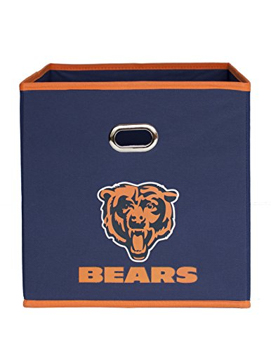 (NFL Chicago Bears Fabric Storage Bin, 11 x 11-inches,)