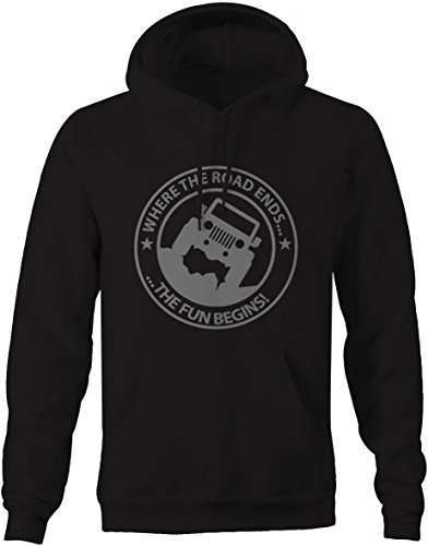 Stealth - Where the Road Ends The Fun Begins Jeep Wrangler Offroad Sweatshirt - Large