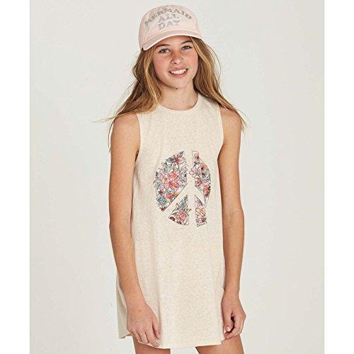 Billabong Girls' Girls' Peace Out Dress Oatmeal (Girl With Out Dress)