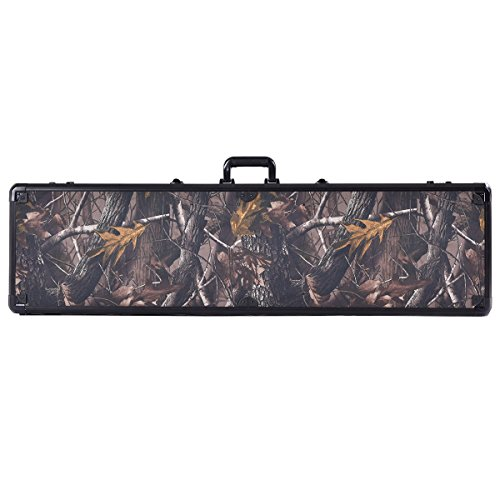 Goplus Long Rifle Gun Hard Case 49-inch Locking Shotgun Storage Box with Foam ()