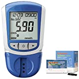 ZZYYZZ Cholesterol Monitor,5 in 1 Measuring (HDL, LDL, Total Cholesterol, Triglycerides) Including 50 Test Strips