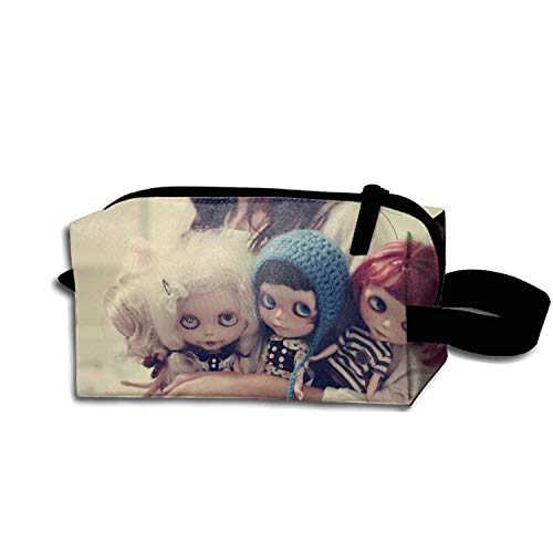 Dark Creepy Gothic Emo Pen Holder Stationery Pencil Pouch Waterproof Multi-purpose Storage Tote Tools Canvas Bag Cosmetic Makeup Bags With Zipper And Hanging Loop