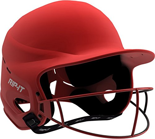 Rip-It Vision Pro Matte Softball Batting Helmet (Matte Scarlet, Small/Medium) (Helmet Batting Pro)
