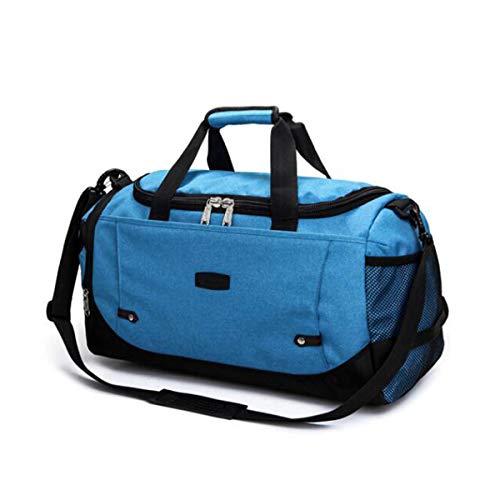 Jielongtongxun Fitness Bag, Large-Capacity Portable Sports Bag, Short-Distance Travel Bag, Purple Size: 512327 Alta qualità (Color : Sea -
