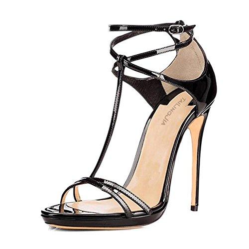 L@YC TacóN De TacóN Alto De TacóN alto De Mujer Con Bolsa De Punta abierta Con Zapatos De Vestido De Danza De Sandalias Black