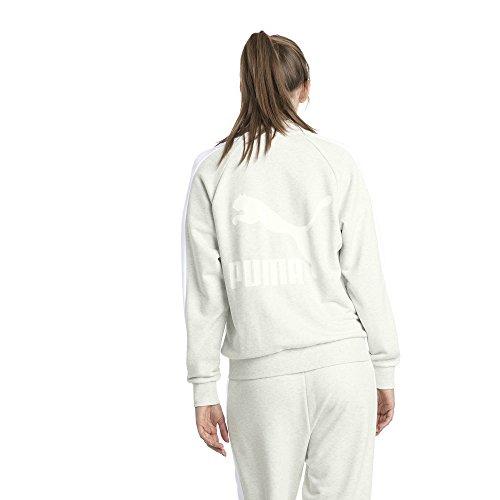White T7 Ft heather ice Track Donna Jacket Puma Classics Sfq4gwBP