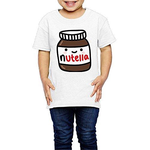 Price comparison product image Ruby Fondos Tumblr Nutella Crew Neck Short Sleeve Shirt 2-6 Toddler Kids