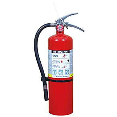 5lb Heavy Duty ABC Fire Extinguisher 3-A, 30-B: C Stainless Steel Handle w/ Wall Hook/PD5LB-BAL