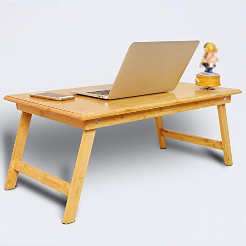 KSUNGB Laptop desk Bed Fold Small Desk Lazy People Desk Learning Desk Writing desk, Wood color, 804034cm by KSUNGB