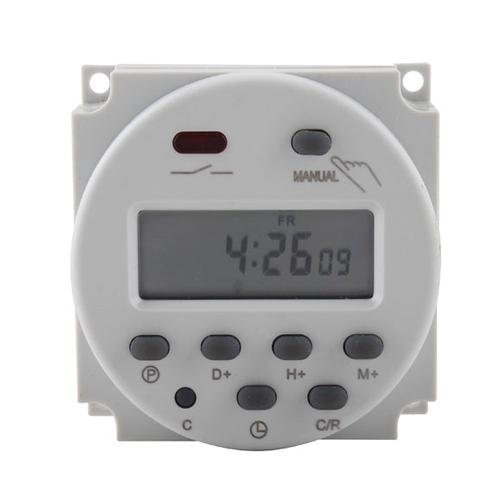 New LCD Digital Power Programmable Timer AC 12V 16A Time Relay ()