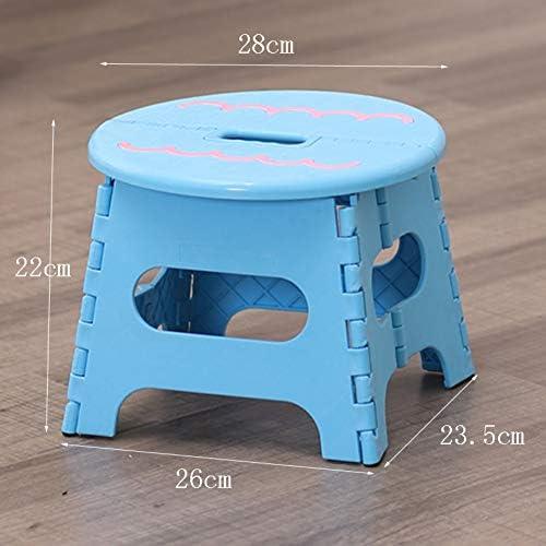 GE&YOBBY - Escalera Plegable de plástico, Redonda, portátil, para el hogar, diseño de Dibujos Animados, plástico, a, 28x23.5x22cm(11x9x9inch): Amazon.es: Juguetes y juegos