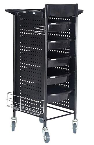 Good concept 40″ Beauty Salon Spa Styling Station Rolling Storage Tray Cart Trolley Equipment