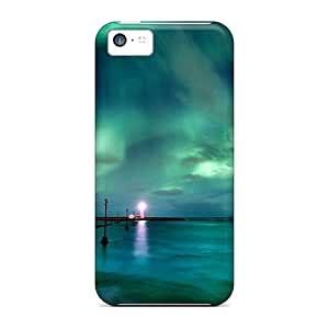Durable Defender Case For Iphone 5c Tpu Cover(aaurora Borealis)