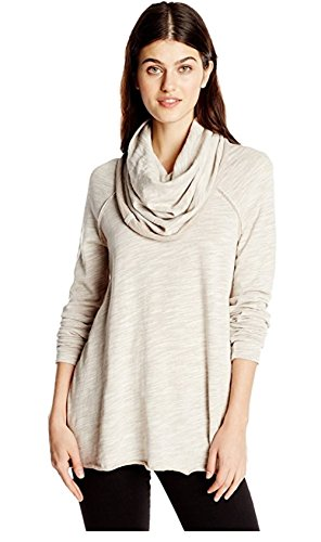 Free Pullover (Free People Ladies' Cowl Neck Pullover (XS/S, Oatmeal))