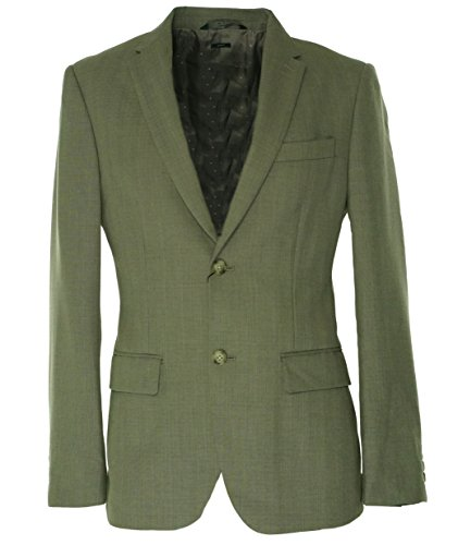 Perry Ellis Men's Slim Fit Travel Luxe Stripe Suit Blazer, Alloy, Small/38