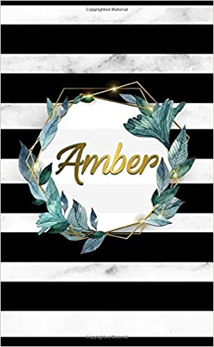 Amber: Cute 2020-2021 Black & Marble 2 Year Monthly Pocket ...
