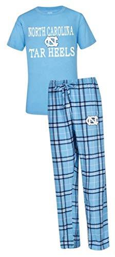 NCAA University of North Carolina UNC Tar Heels Men's Shirt and Pajama Pants Flannel PJ Sleep Set Large 36-38 (North Carolina Workout Pants)