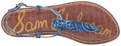 Sam Edelman Gigi Sandalias de tanga de la mujer Sailor Blue Bandana Print