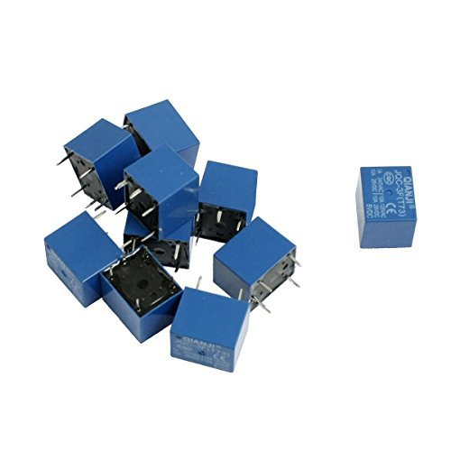 Saim 10 pezzi DC 5 V Coil 7 a 240 VAC 10 A 125 VAC/VDC 5 pin jqc-3 F