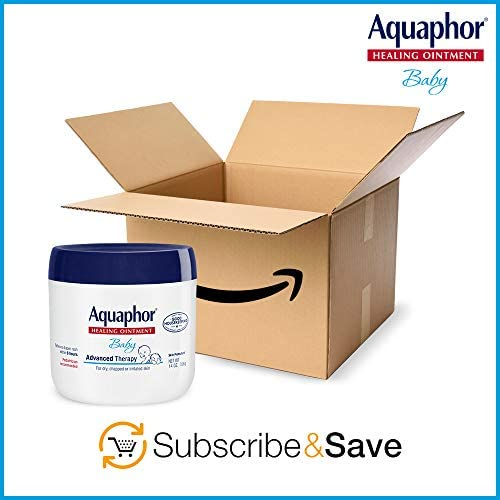 41Z1jSHM1LL. AC - Aquaphor Baby Healing Ointment - Advance Therapy For Diaper Rash, Chapped Cheeks And Minor Scrapes - 14 Oz Jar