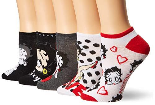 Betty Boop Women's 5 Pack No Show Socks