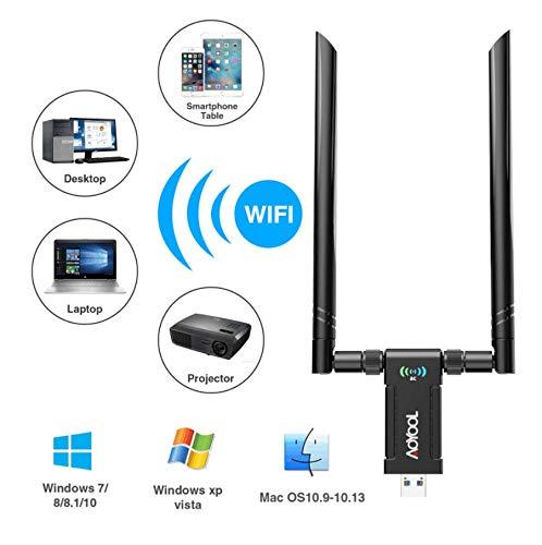 Aoyool - Adaptador WiFi de Doble Banda 1200 Mbps (5G/867 Mbps + 2,4 G/300 Mbps), USB 3.0 con Antena de 5 dBi 1200M Adapter: Amazon.es: Informática