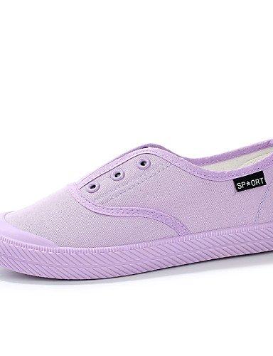 exterior Purple us8 negro Zq Cerdo Eu37 mocasines Cn 5 Uk6 Blanco tacón comfort us6 Zapatos Uk4 cuero Rosa 5 De 7 Cn40 Casual Vestido Mujer Cn37 Morado 5 Eu39 Black 5 Plano Gyht 5 qxwUq8TO