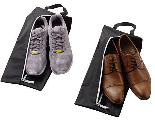 ALPAMAYO Schuhtasche 2er Set, wasserunduchlässig. Trennen Sie schmutzige Schuhe und saubere Kleidung in Ihrer Reisetasche, Koffer oder Handgepäck; schwarz
