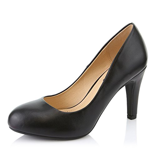 DailyShoes Womens Comfortable Cushioned Slip On Hidden Wedge Low Heels Round Toe Dress Pumps Shoes