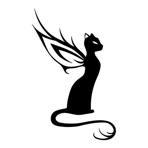 Bargain Max Decals Fairy Cat Silhouette Decal Notebook Car Laptop 5.5