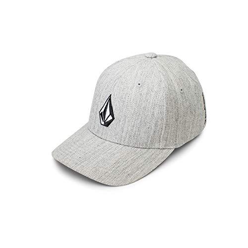 Stretch Cotton Fitted Cap - Volcom Men's Full Stone Flexfit Hat, Grey Vintage, Small/Medium