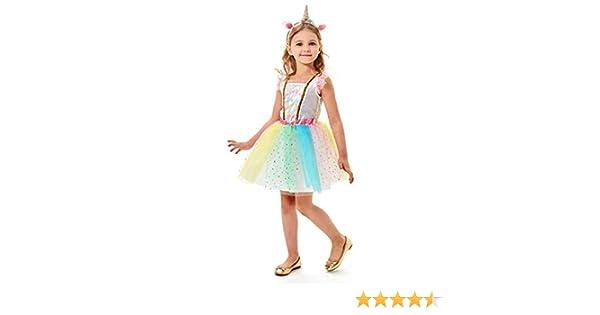 Sincere Party Disfraz de Unicornio Brillante para niñas, Disfraz ...